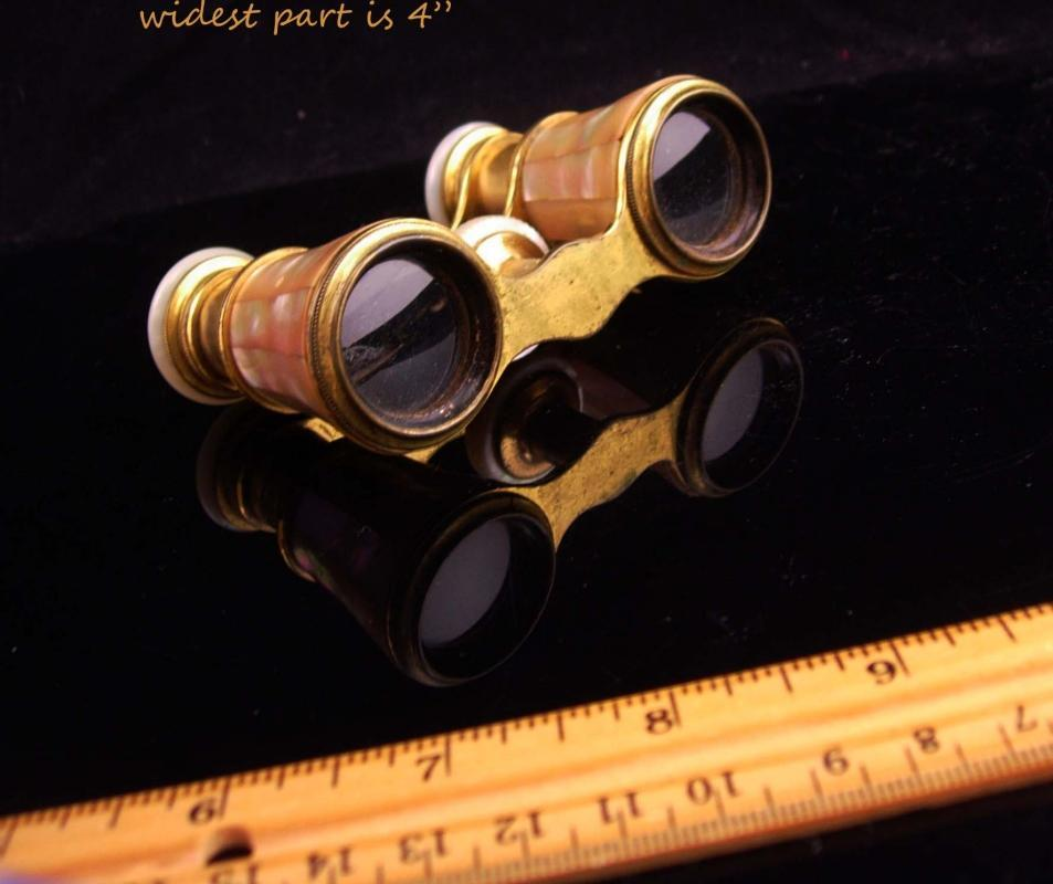 Antique Opera glasses / bird watcher gift / victorian jumelles glasses / Mother of pearl  / Paris chevalier glasses / steampunk gift