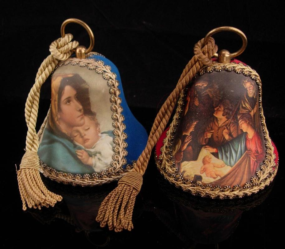 1975 1976 Reuge Bells / swiss music box / Musical bells / madonna and child / Christmas ornaments / Christmas Decoration / Adeste Fideles
