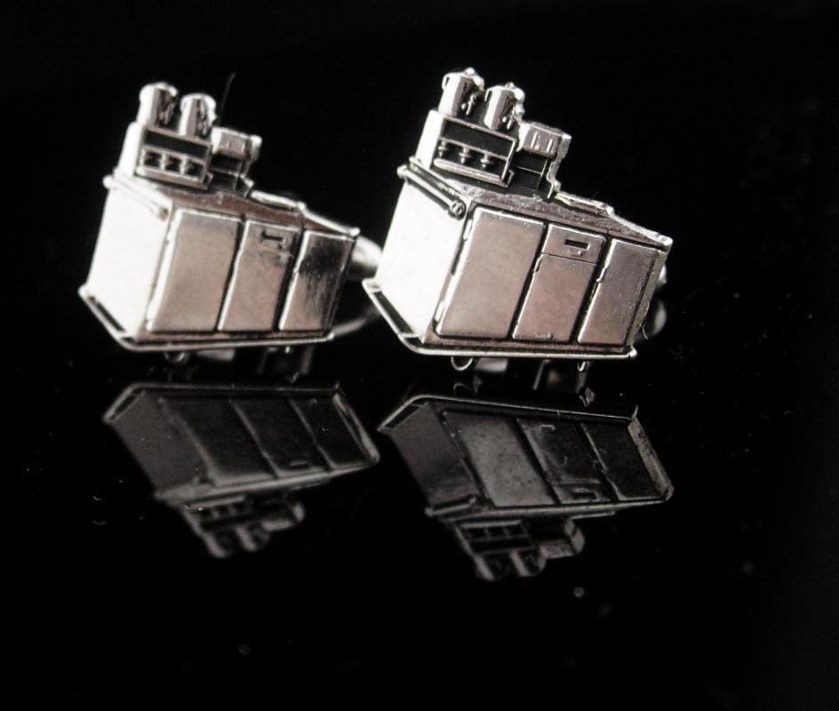 Retro 50's Cufflinks / soda fountain / diner set / Vintage Silver Cufflinks / Cook Chef gift / Business Restaurant / novelty gift/ soda jerk