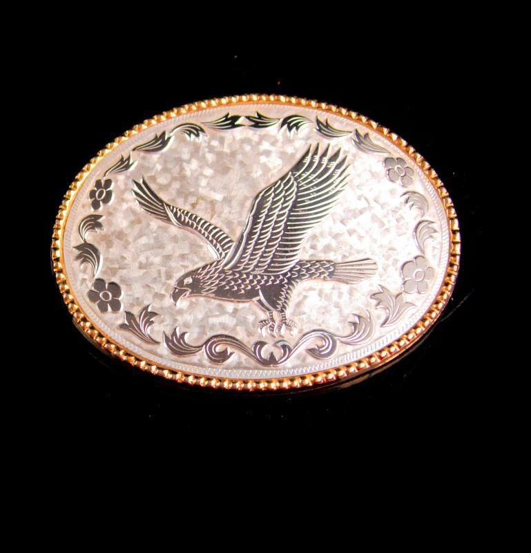 Eagle BUCKLE / Patriotic buckle / military gift /  Political freedom /  gold silver biker belt buckle / oval vintage mens buckle