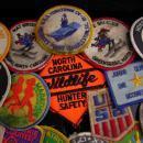 16 scout Patch Lot / Vintage merit badge set / uss Yorktown / ski club / marathon / nasa