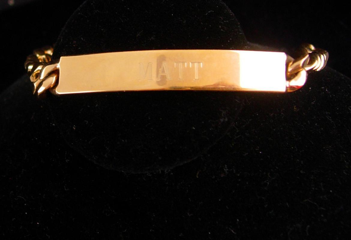 I Love Matt Bracelet / gold filled ID bracelet / Matt Birthday / Graduation gift / mens Id bracelet / personalized gift / gold jewelry