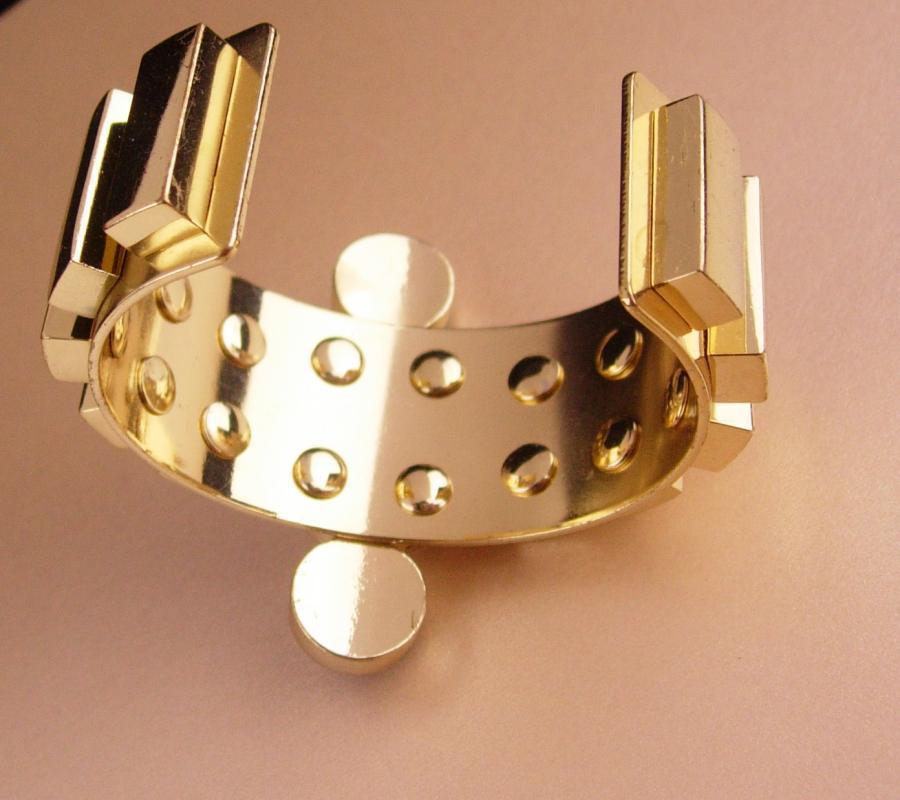 Fabulous Lapis Bracelet / Egyptian revival / wide deco style gold cuff / Designer /  4th 5th 9th 24th 45th anniversary December Sagittarius