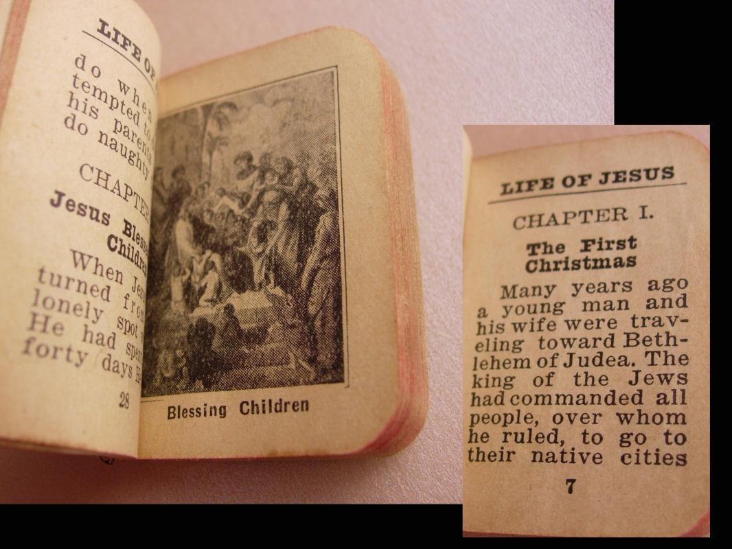 Lambert Family Baby Bible miniature Geneology Lile clyde fred ben george herbert j.h. clara wright warren Euna clarence and lee 1888 and up