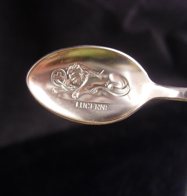 Rolex BUCHERER of SWITZERLAND - collectible Silver Spoon - Vintage Heirloom - English Lion - Lucerne Hallmarks - Collectors edition