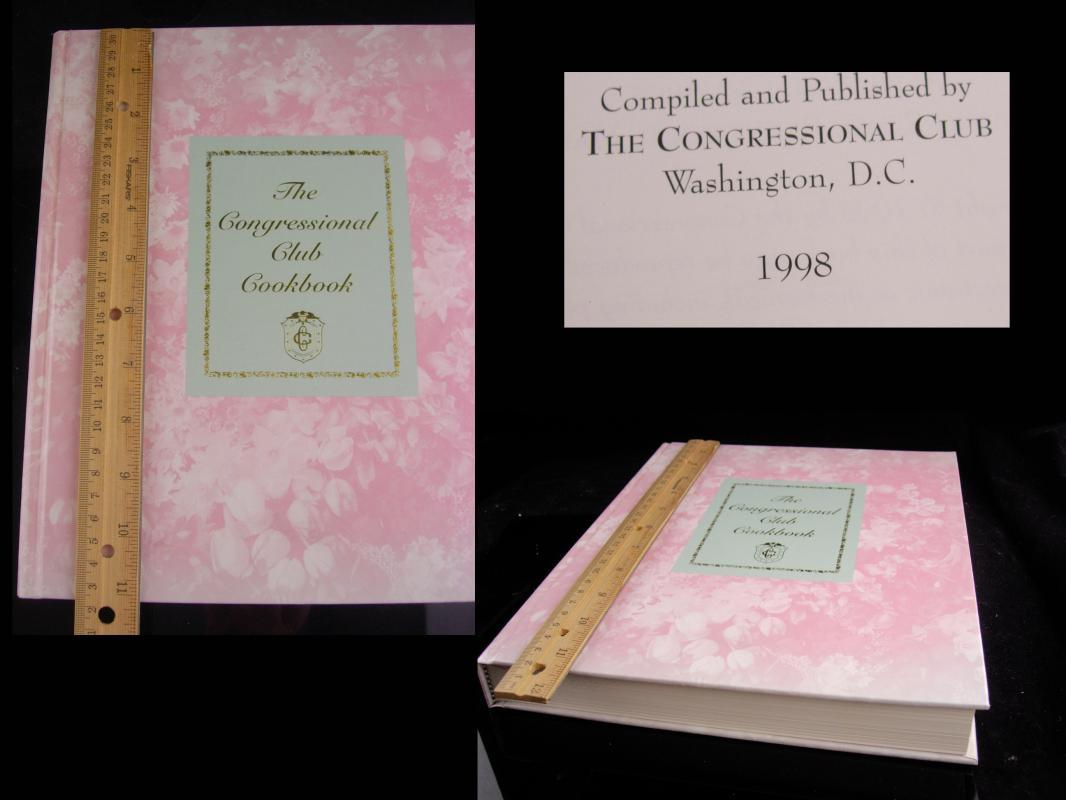 1998 Congressional COOKBOOK - Original invitation honoring Barbara Bush - First lady Bush - Washington Hilton Hotel - 1919 connecticut ave