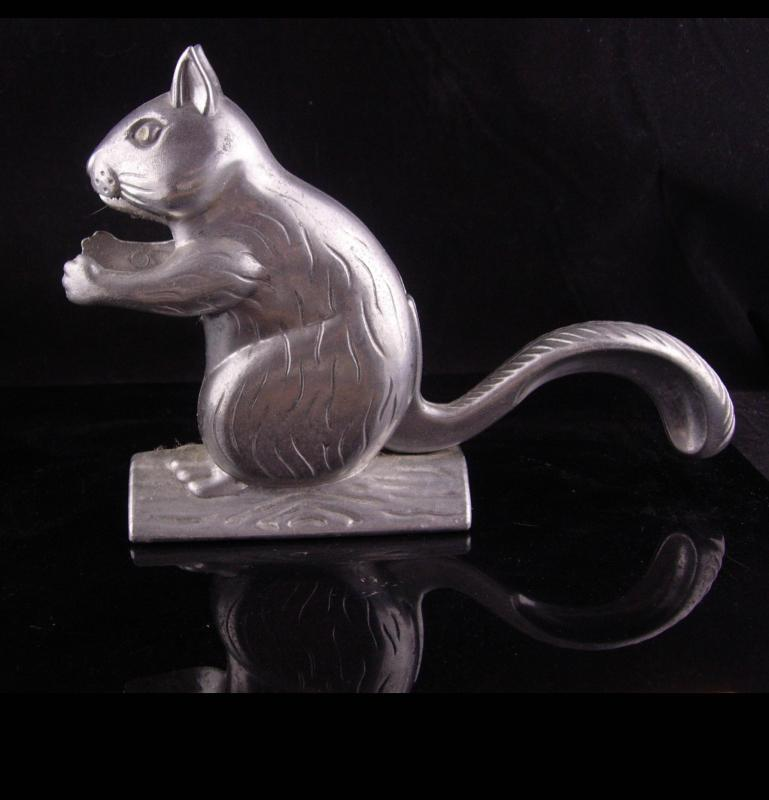 Squirrel nutcracker - vintage metal kitchen gift - animal lover gift - novelty nutcracker - animated squirrel - bachelor party gift