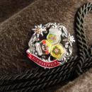 Vintage Bavarian Hat - mens Alpine fedora - German Hat  - Rein Haar -hiking Alps - size 57 -fur felt hat - green brown - mens hat - hat pin