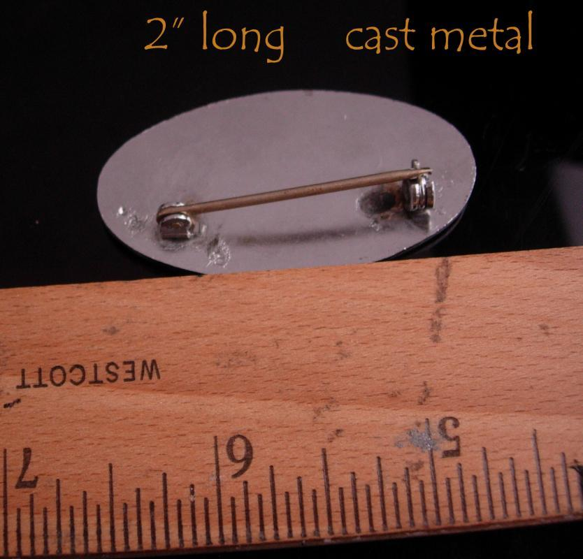 Vintage Employee pin - silver badge - Vintage Cast Metal -  Centri-Spray Corp 3104 - Employee Metal Badge Livonia Michigan  identification