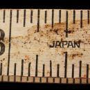 Vintage JAPAN Ruler - fold out white measure - architect gift - mathematician - teacher professor gift - craft destash -carpenter ruler
