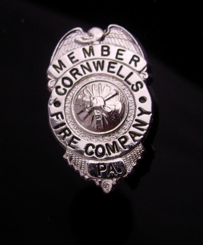 Vintage Fire Department Badge - Cornwells Fire Company - member pin - Firefighter gift - Bensalem Township - Bucks County Pennsylvania