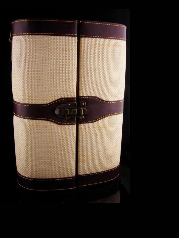 Wine glass case - corkscrew - stemware - ornate cork - bottle opener - original case - NEVER used - Wedding anniversary gift - picnic set