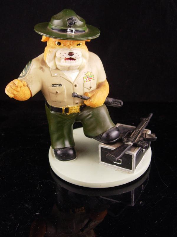 Vintage Marine bulldog statue - Marine Drill instructor - limited edition - veteran marine gift - Fathers Day - gift for dad