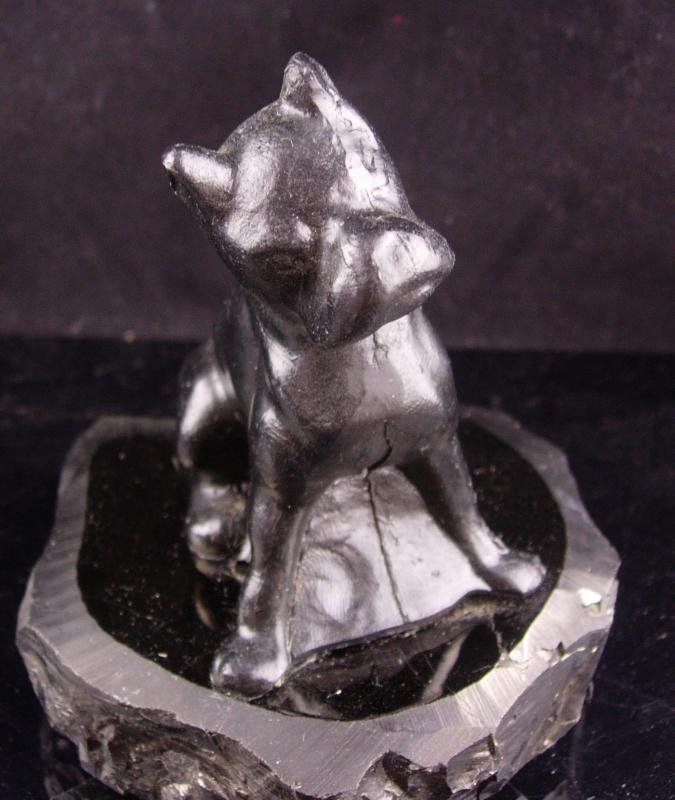 Vintage Dog  statue - boxer gift - carved coal - bulldog figurine  Animal Lover -  mens gift - dog groomer gift - Anthracite folk art