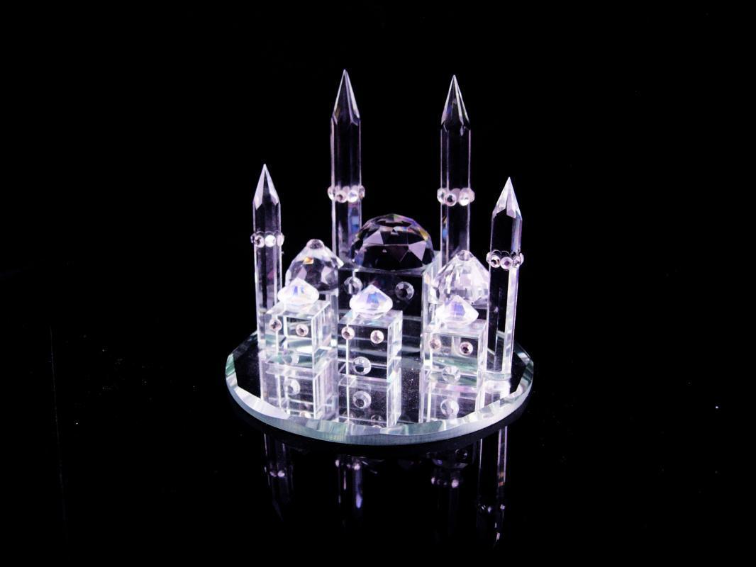 Swarovski Taj Mahal - miniature crystal palace - Ottoman Empire - mirror  base - Persian wedding palace - mausoleum architecture shrine