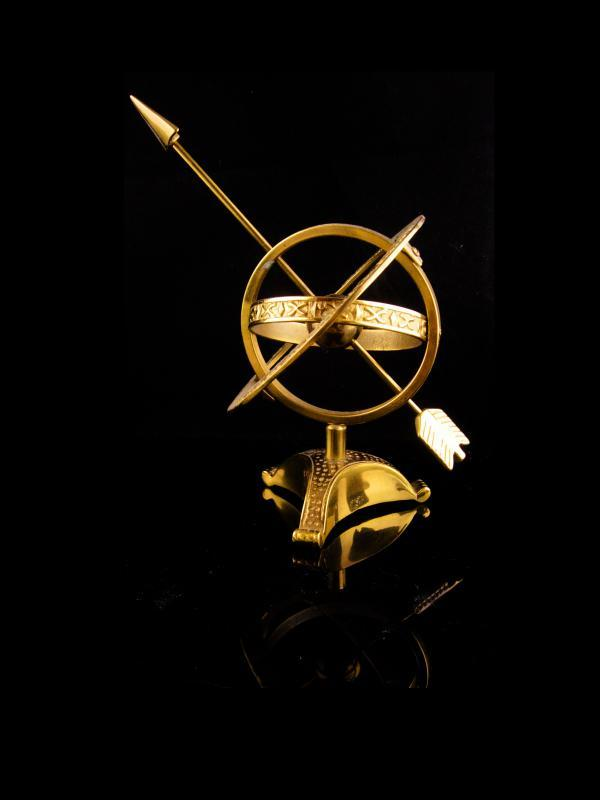 Vintage Nautical Sphere - Brass Armillary Globe - Sailor gift - desk accessory -