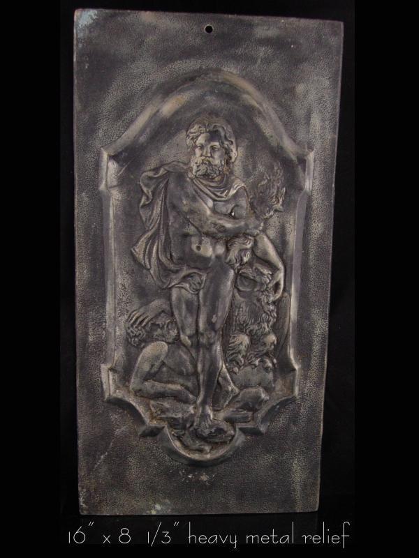 Antique Relief Plaque - Zeus Greek God - 16