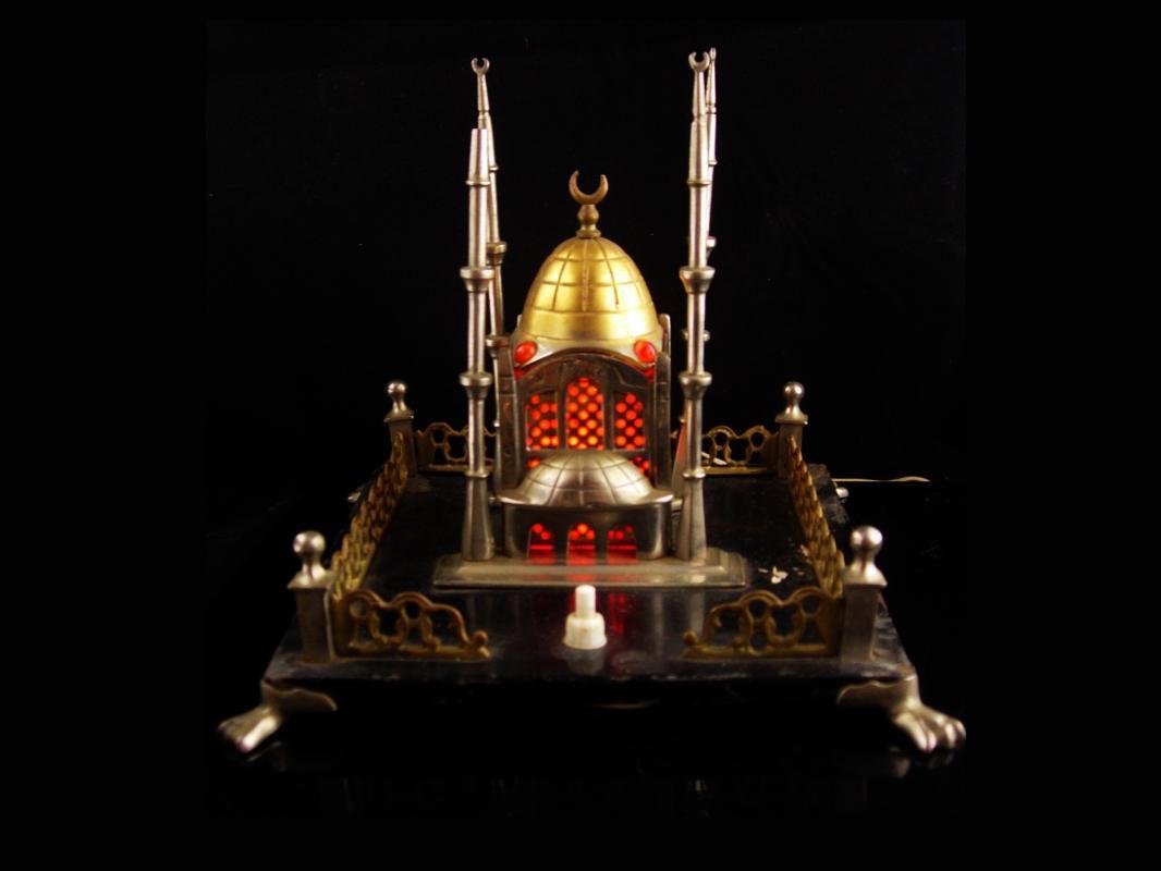 1920s Taj Mahal miniature building Ottoman Empire electric jewel claw foot base