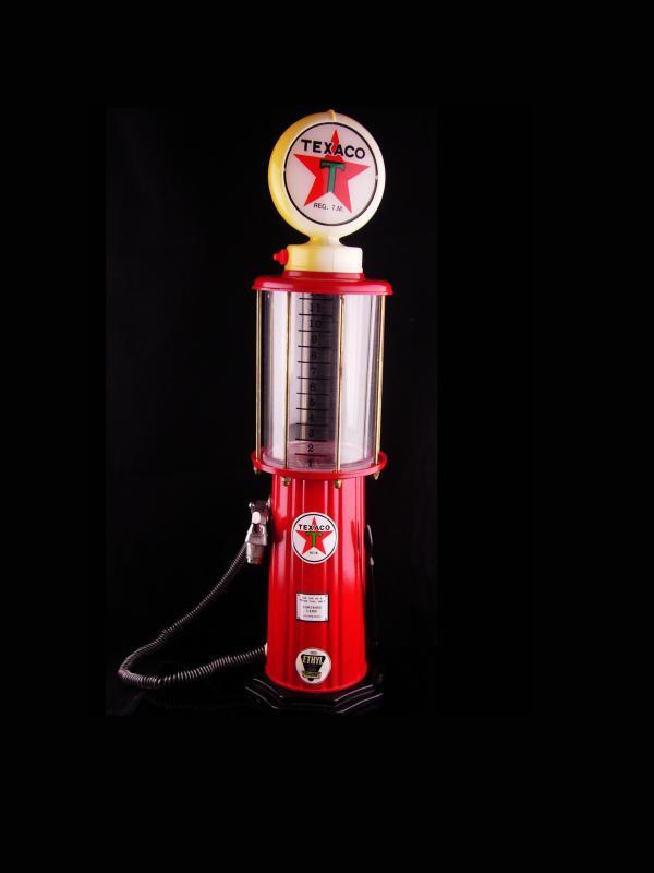 Vintage TEXACO 1920 Gas Pump Drink Dispenser - Lighted Sign Lamp - Barware - bartender gift