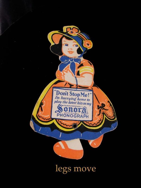 1940s Mechanical advertising card - sonora phonograph - Music lover rare gift - paper doll