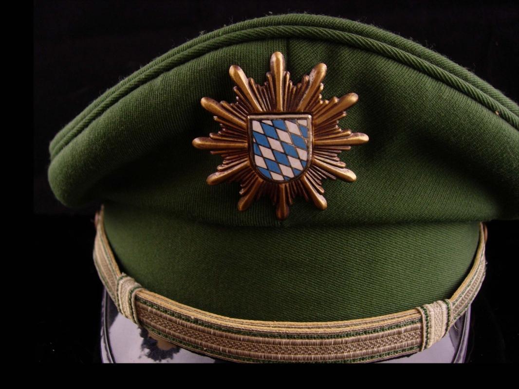 Vintage German Visor Cap - Bamberger Mutzen industrie - green military wool hat