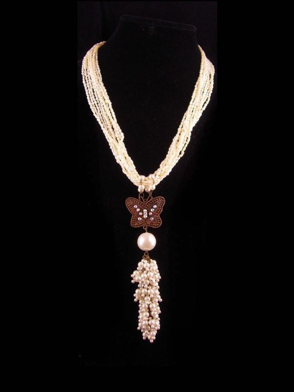 Vintage Flapper Pearl necklace - 6