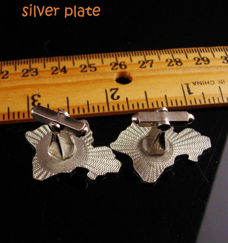 Hawaiian Cufflinks Vintage Oahu set - Hawaii Cuff links - souvenir tourist jewelry - mens unusual gift - honeymoon gift