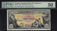 1935 $20 CANADIAN BANK OF COMMERCE PMG50 high