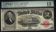 1917 $2 USA LEGAL TENDER FR60  speelman/white