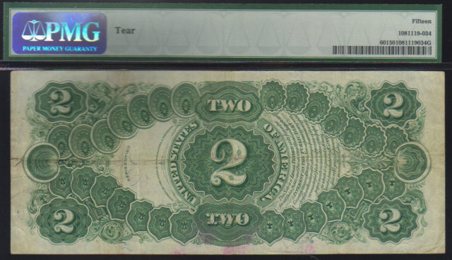 1917 $2 USA LEGAL TENDER FR60  speelman/white