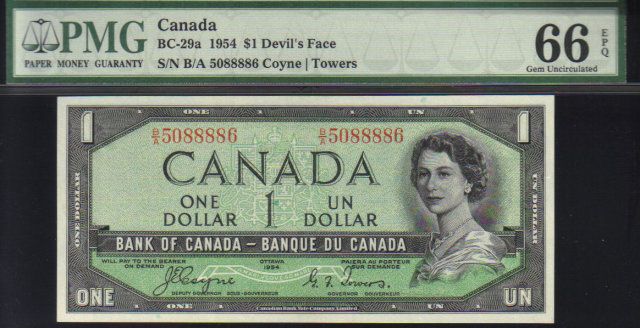 1954 $1   bank of canada
