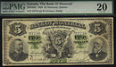 1888 $5 the BANK OF MONTREAL   PMG VF 20 HIGH