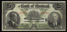 1923 $10 BANK OF MONTREAL  banknote