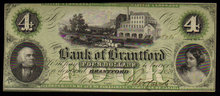 ONTARIO-Bank of Brantford $4 Nov. 1, 1859 Ch.