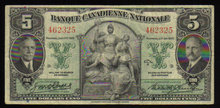 1935  banque canadienne national $5  vf