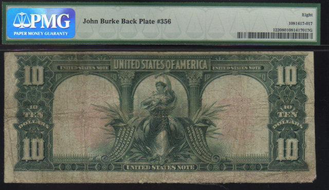 bison mule  USA $10 1901  & EXPLORERS PMG vg8