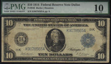 USA $1914 $10 federal reserve note PMG vg10