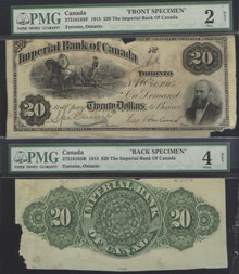 1915 $20 IMPERIAL BANK OF CANADA
