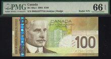 2 digit RADAR 7755577 $20  BANK OF CANADA 2005  PMG 65