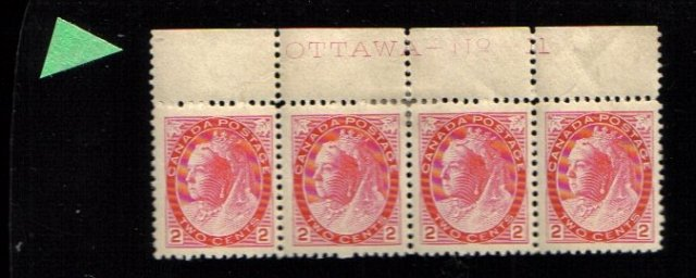 1899 4  2cents STAMPS Queen Victoria canada RARE plt 11