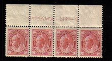 1898 3cents STAMPS Queen Victoria canada  #69  PLATE#6