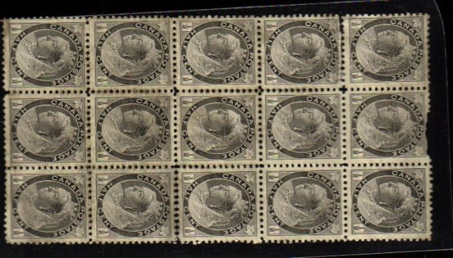1898 1/2 cent # 74 queen victoria 15 stamps  CANADA