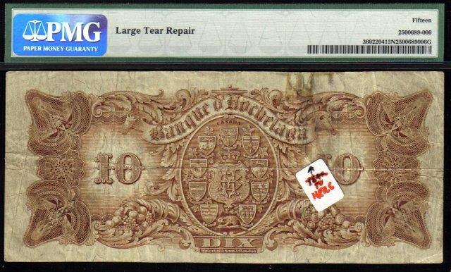 1914 $10 BANQUE d HOCHELAGA PMG15