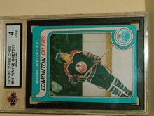 1979 -80 OPC #18 Hockey Wayne Gretzky Rookie Card KSA 4