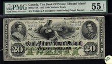 The Bank of Prince Edward Island 1872 $20 PMG55