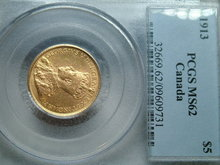 1913 $5 gold coin a beauty