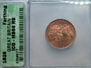 1828 farthing super high graded