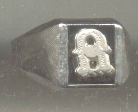 Ring/Boys/Small Man's/Vargas/Sterling/?Onyx/Initial