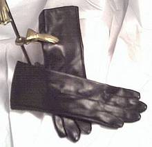 Gloves/Pair of LadiesBlack Vinyl-C. 1960's