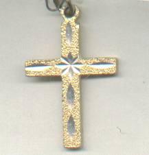 Religious/Pendent/Cross/Goldtone